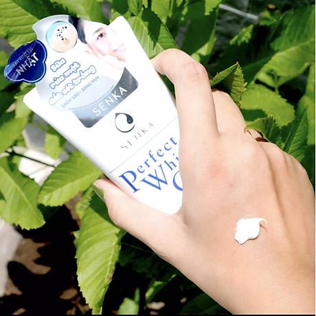 Combo 2 Tuýp Sữa Rửa Mặt Đất Sét Trắng Sạch Sâu Sáng Mịn Senka Perfect White Clay Chiết Xuất Tơ Tằm Dưỡng Ẩm (120g) 6