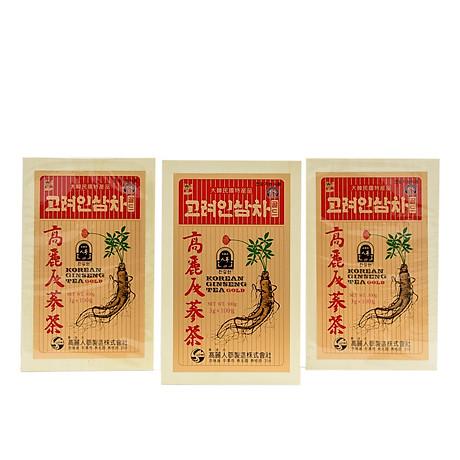 Trà hồng sâm Hàn Quốc Okinsam Hộp gỗ 100 gói - Dạng bột giúp giải nhiệt, giảm mệt mỏi, tỉnh táo tinh thần 2