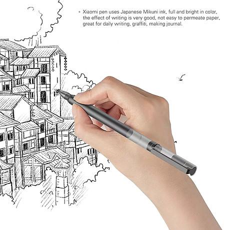 10 cây bút mực Xiaomi Gel Pens 0.5mm với khoang chứa mực rộng chống lem chống tắc 2