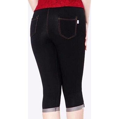 Quần Legging lửng thun giả Jeans cao cấp 4