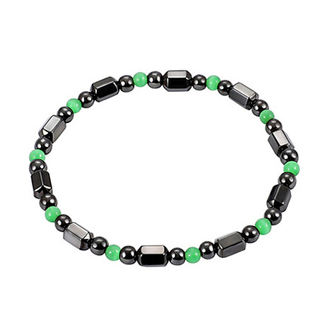 1 PCS Weight Loss Healthcare Round Black Stone Magnetic Therapy Hand Chain Body Care Hematite Stretch Bracelet Magnet 1