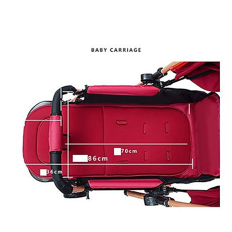 Xe đẩy cho bé HUAYING ,Xe đẩy em bé 2 chiều 3 tư thế màu đỏ,màu xanh,màu kaki,màu hồng 7