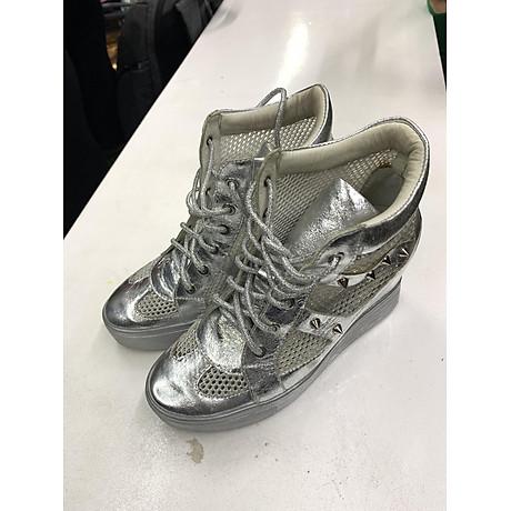 Giày sneaker nữ cao cổ đính đá 1