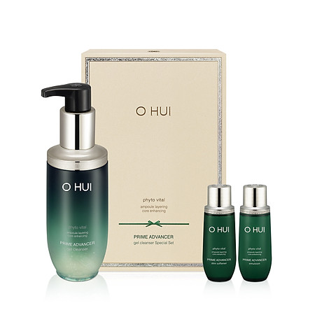 SET SỮA RỬA MẶT DẠNG GEL OHUI PRIME ADVANCER GEL CLEANSING FOAM. 1