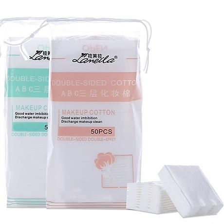 Túi Bông Tẩy Trang Lameila Chất Liệu Cotton Cao Cấp 50 Miếng - Giao Mầu Ngẫu Nhiên -MP093 1