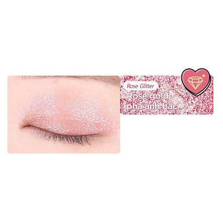 Bảng Phấn Măt Black Rouge Crystal Heart Lock Shadow 30.6g 5