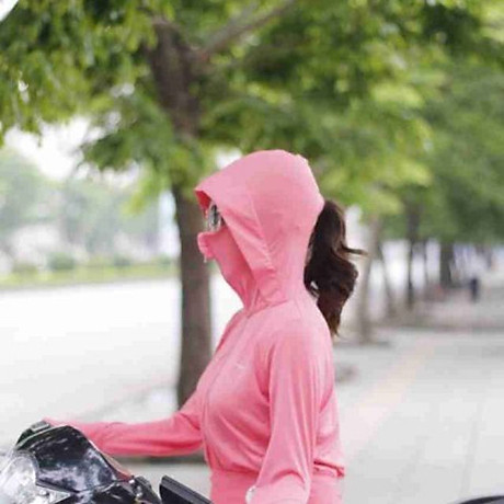 Áo chống nắng thông hơi làm mát che mặt tiện lợi, loại dày dặn đẹp (tặng 1 cặp tóc càng cua) 4