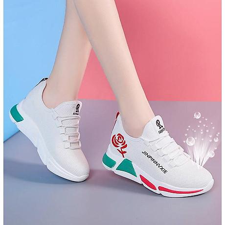 Giày sneaker thể thao nữ buộc dây phong cách hàn quốc màu đen, trắng size 36 đến 40 V179 5
