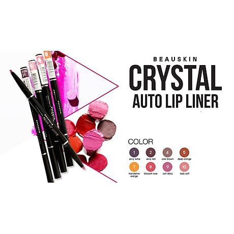 Chì kẻ môi 2 đầu bền màu Beauskin Crystal Auto Lip Liner 05 (5g) - Hàn Quốc Chính Hãng 3