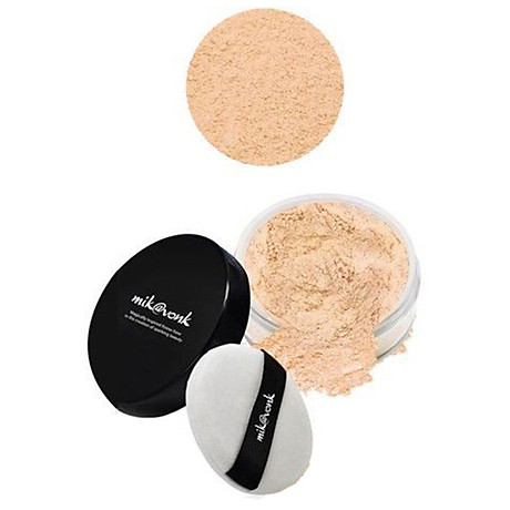 Phấn phủ bột kiềm dầu Mik vonk Blooming Face Powder Hàn Quốc 30g NB19 Natural Beige tặng kèm móc khoá 4