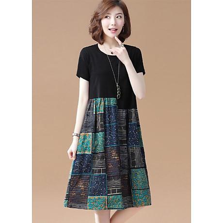 Đầm suông phối họa tiết nữ Haint Boutique Da76 1