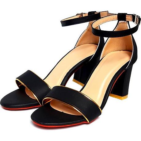 Giày cao gót đế vuông thời trang T263K335 - Đen 2