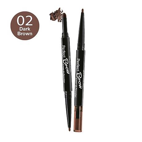 Chì Định Hình Mày 2 Đầu Silkygirl Perfect Brow Liner & Powder 01 Natural Brown 1