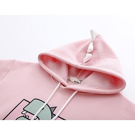 Áo hoodie nữ Khủng Long siêu dễ thương - PP06A 7