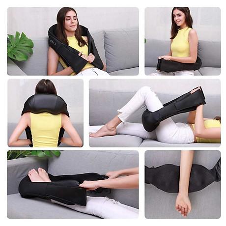 Đai Massage Đa Năng 8 Đầu Massage Cho Cổ Vai Gáy - Tặng kèm bút massage bấm huyệt 7