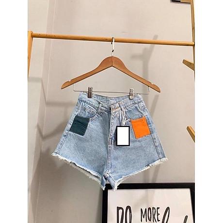 Quần short nữ lưng cao Julido S08 chất jean, một màu, ba kích thước thời trang trẻ trung 4