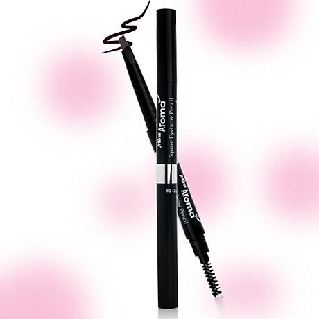 Chì mày định hình Mira Aroma Square Eyebrow Pencil No.2 tặng kèm móc khoá 6