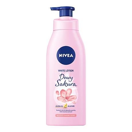 Sữa Dưỡng Thể Dưỡng Trắng NIVEA Hương Anh Đào Dewy Sakura (350ml) - 85703 3