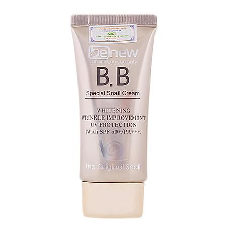 Kem nền siêu mịn tự nhiên lâu trôi chiết xuất ốc sên Hàn quốc BB cream Benew SPF 50 PA+++ ( 50ml) 2