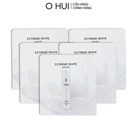 Bộ Tinh chất và Kem dưỡng trắng OHUI Extreme White 10x1ml gói-Gimmick 1