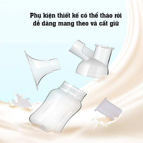 Máy hút sữa điện đơn dùng pin sạc di động cao cấp CMBEAR ZRX-0901 CHÍNH HÃNG - CMB21 4