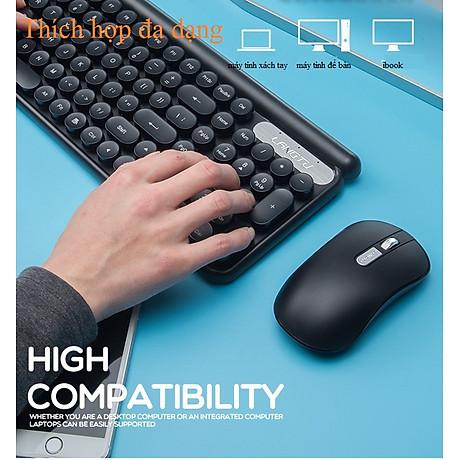 Bộ bàn phím và chuột không dây LT400 phiên bản sạc (tặng kèm lót chuột) - Hàng Nhập Khẩu 7