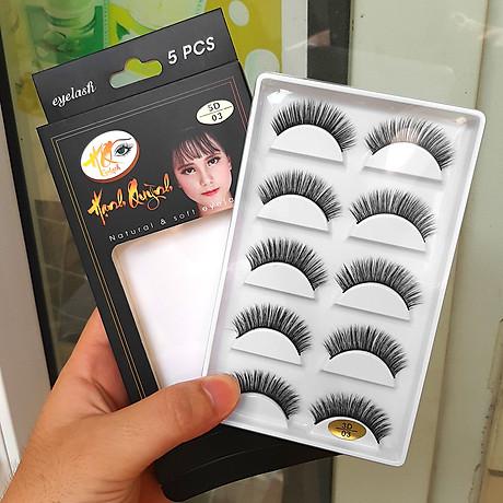 5 cặp lông mi giả Natural & Soft Eyelash 1