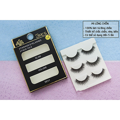 Lông mi chồn 3 Fashion Eyelashes 3 Faux (Dày mi L18) 7