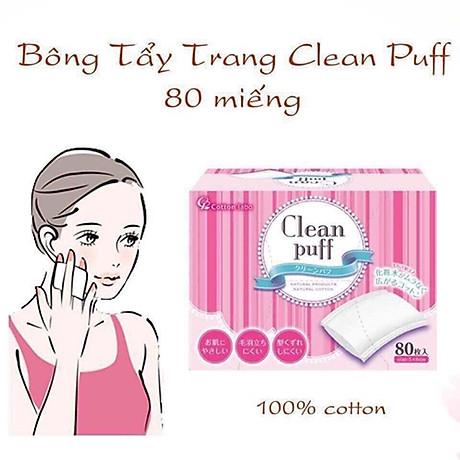 Combo 2 hộp Bông tẩy trang cao cấp Cotton Labo Clean Puff Nhật Bản (80 miếng hộp x 2) 4