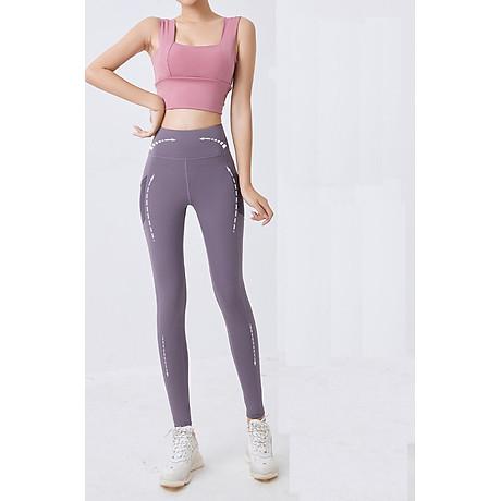 Quần thể thao nữ quần legging co giãn nhanh khô, túi hai bên phối lưới, quần yoga chạy bộ mã MTCK9016 4