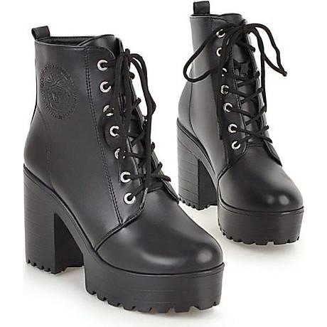 Giày Boot Đen Gót 7 Phân 1
