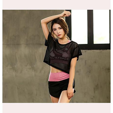 Set Bộ 3 đồ quần áo thun thể thao nữ áo ngoài zen năng động ( Đồ Tập Gym, Yoga, Aerobic ) mã 8808 3