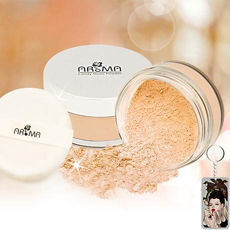 Phấn phủ bột kiềm dầu Aroma Candy Shine Powder Hàn Quốc 10g No.105 Da tự nhiên tặng kèm móc khoá 1