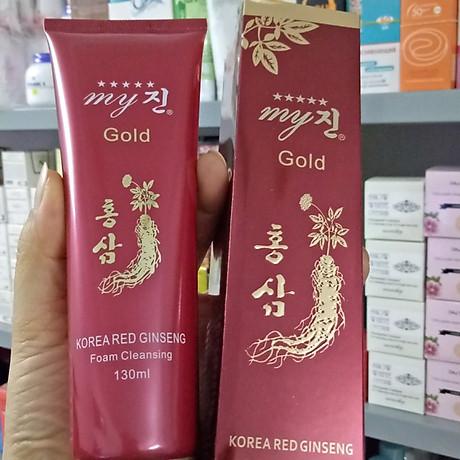 Sữa rửa mặt chống lão hoá hồng sâm My Gold Korea Red Gingseng 130ml Tặng Móc khoá 6