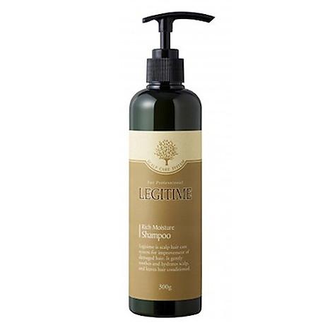 Dầu gội thảo dược Legitime Rich Moisture Shampoo sạch gàu Hàn Quốc 300ml Tặng Móc khóa 3