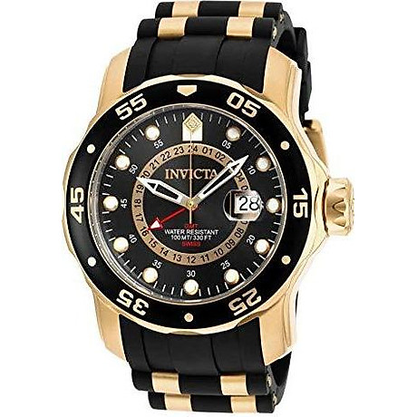 Invicta Men s 6994 Pro Diver Collection GMT Green Dial Black Polyurethane Watch 1
