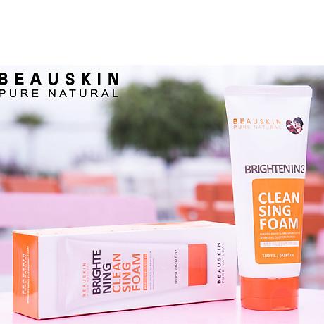 Sữa rửa mặt Beauskin Brightening Cleansing Foam Hàn Quốc 180ml Kèm móc khoá 5