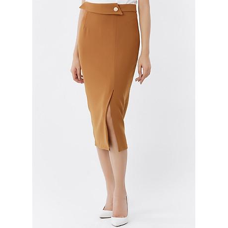 Chân váy ôm form dài phối nút 1
