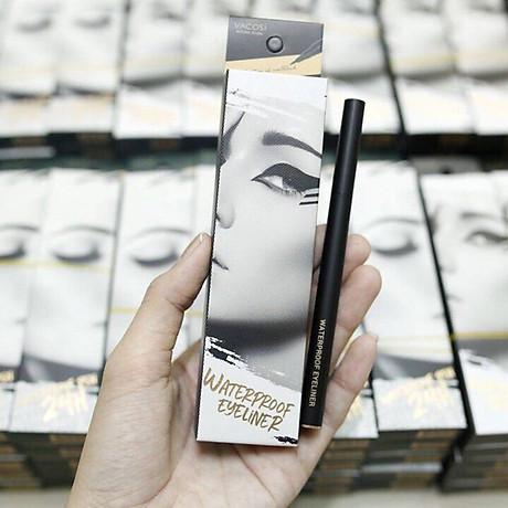 Bút Kẻ Mắt Nước Siêu Lì - Sắc Mảnh Vacosi Waterproof Eyeliner Pen 4