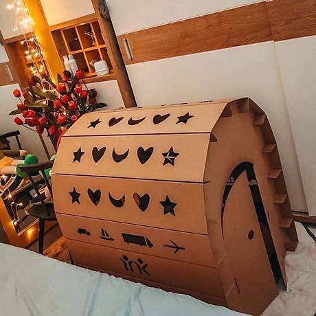 Nhà bìa đồ chơi - Nhà giấy vòm carton 100% bột gỗ - Ngôi nhà bóng cho bé thỏa sức vui chơi [ trẻ em dưới 12 tuổi] 5