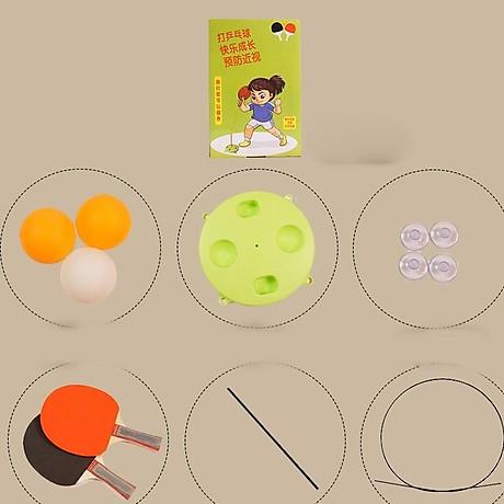Bộ bóng bàn luyện tập phản xạ vợt cán gỗ cho bé vui chơi mọi lúc mọi nơi 2