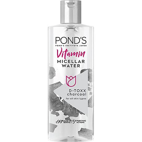Nước Tẩy Trang Vitamin Và Tinh Than Tre Sạch Sâu Pond s Micellar Water 1