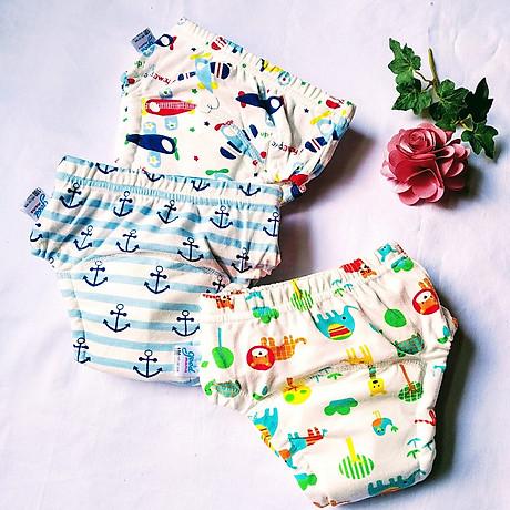 Combo 3 Quần bỏ bỉm cao cấp vải cotton 6 lớp siêu thấm, thoáng mát hiệu goodmama cho Bé trai từ 5-17 kg. 2
