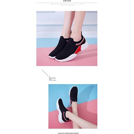 Giày thể thao SNEAKER cổ chun, kiểu dáng siêu đẹp cho nữ - SB75 6