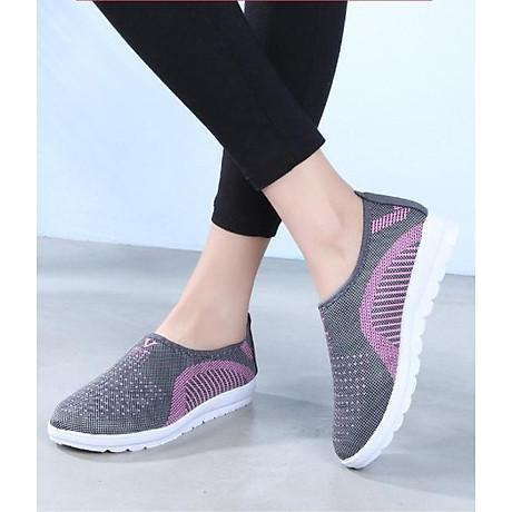 Giày lười nữ phong cách êm chân thoáng khí (full size full box) - chữ V - Size 36 đến 40 - V124 4