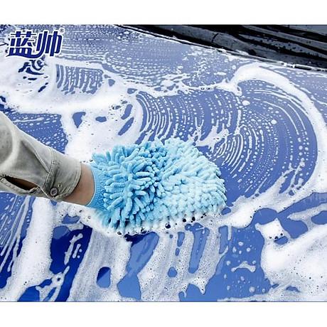 Bộ 2 chiếc găng tay lau rửa xe chuyên dụng đa năng thấm hút tốt (Màu ngẫu nhiên) 6