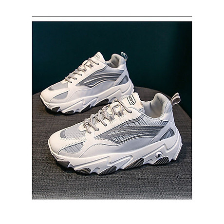 Giày thể thao nữ, giày sneaker nữ lưới đế 3 màu thời trang Hàn Quốc 1