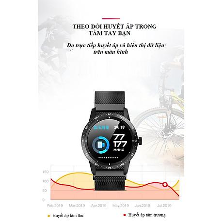Đồng hồ thông minh đo nhịp tim, huyết áp T5 ( Sang trọng, độc đáo ) - Hàng Nhập Khẩu - Dây thép đen 4