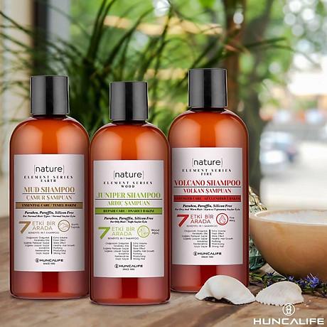 Dầu Gội Tái Tạo Tóc Và Da Đầu Chiết Xuất Cây Bách Xù Hương Thơm Tươi Mát HUNCA Juniper Shampoo 500ml 3