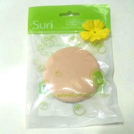 Bông phấn phủ tròn lớn Suri bịch 1 miếng tặng kèm móc khóa 2
